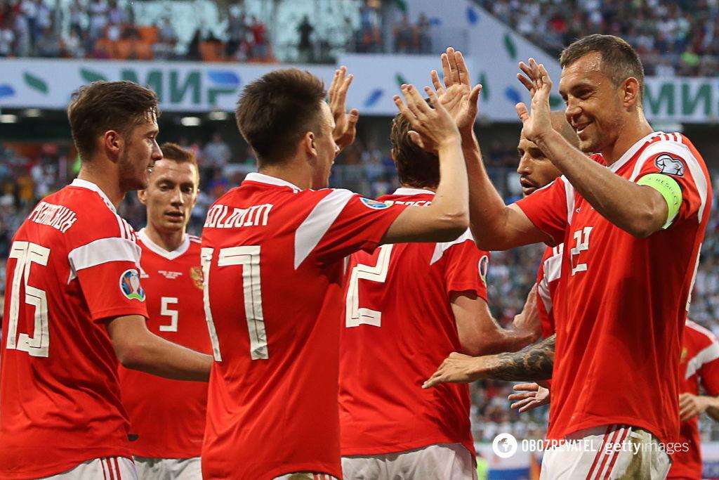Сборная РФ по футболу установила исторический рекорд