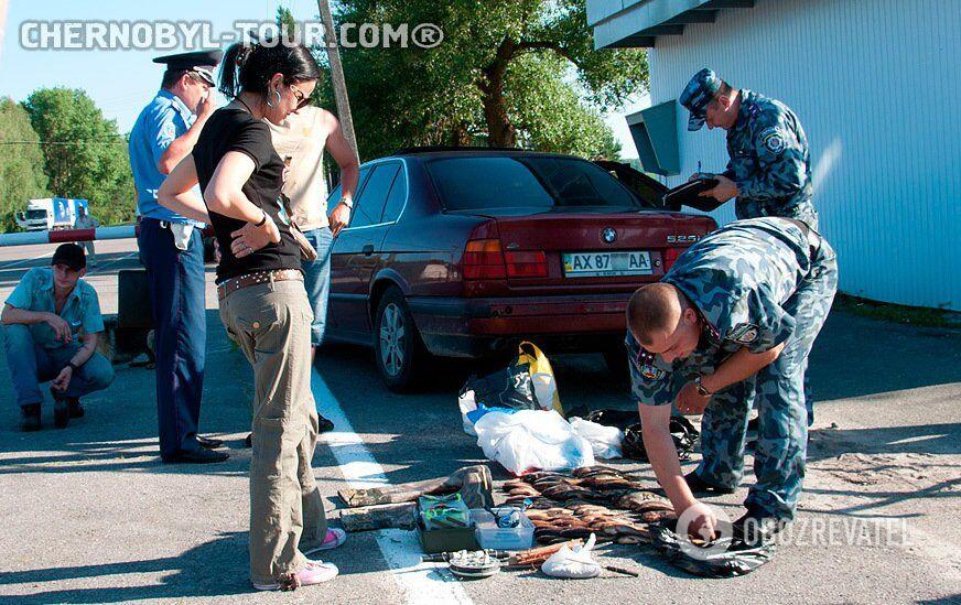 На выезде из Чернобыля задержали браконьеров