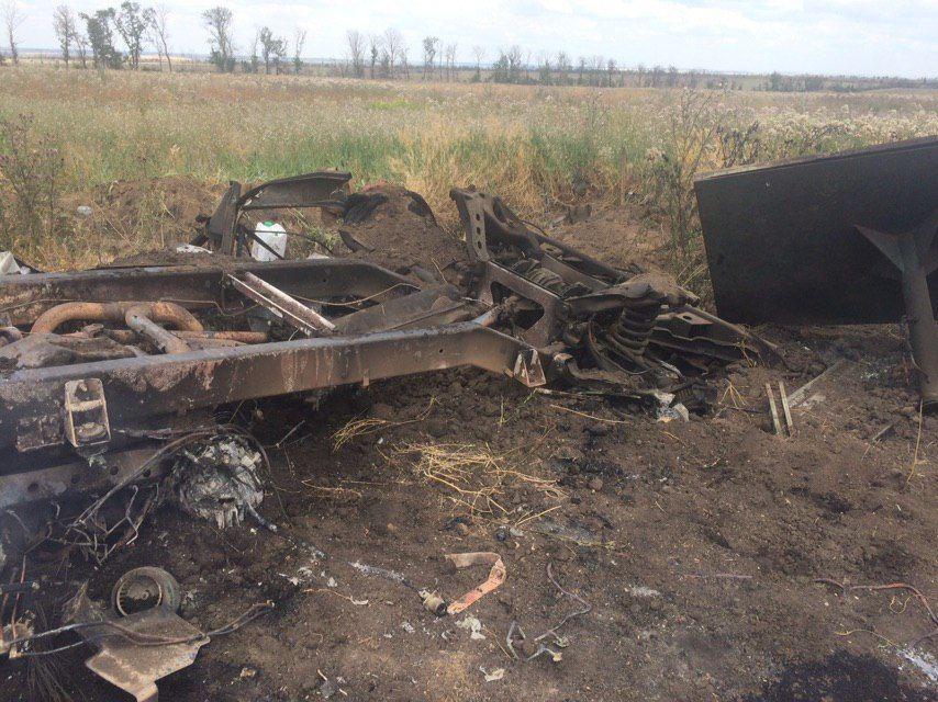 Машина загиблих медиків на Донбасі