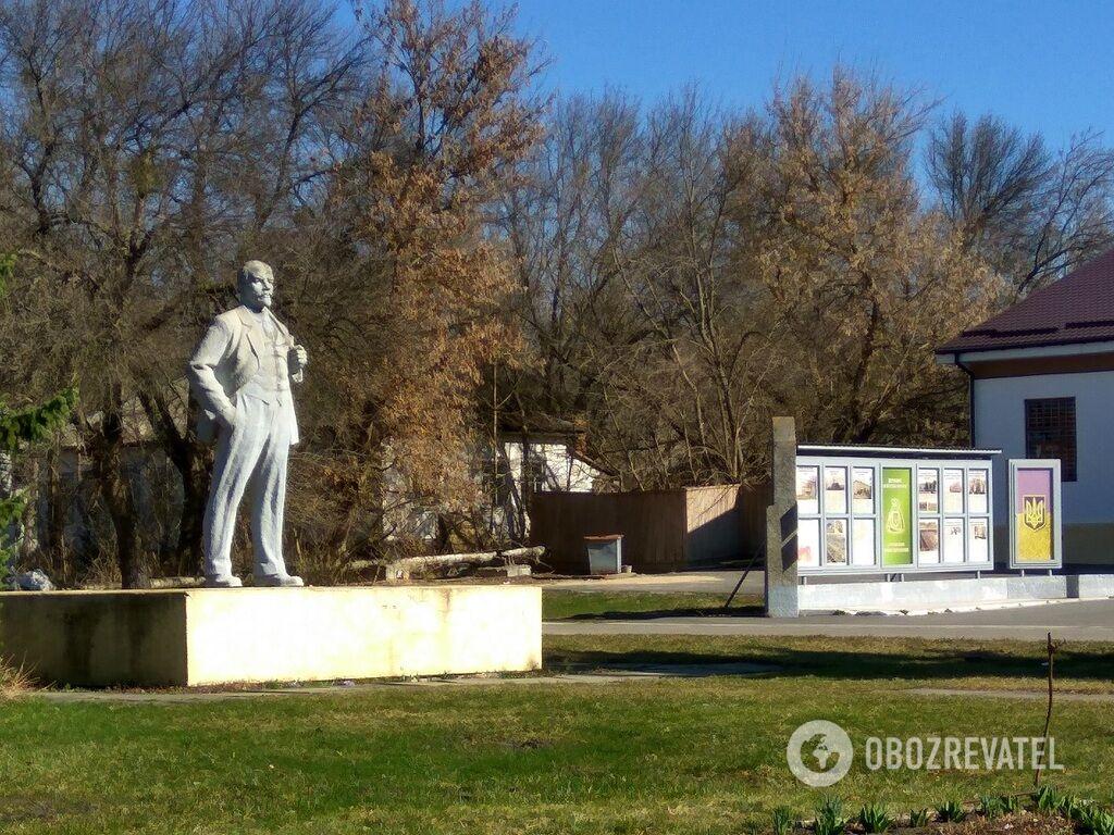 В Чернобыле сохранился памятник Ленину