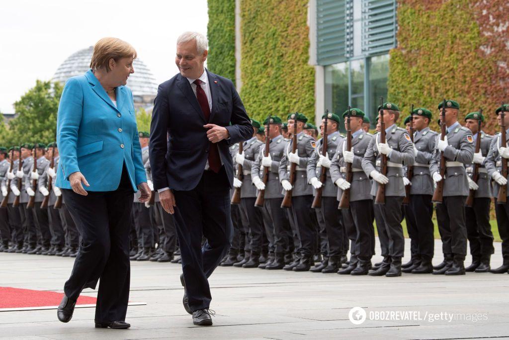 Встреча Меркель и Ринне