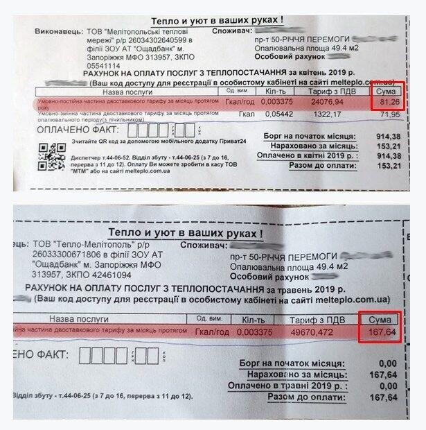 Две платежки – разница в два раза