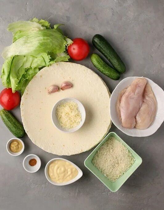 Рецепт очень вкусного сэндвича с курицей в пшеничной лепешке