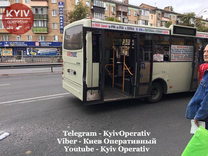В Киеве столкнулись две маршрутки