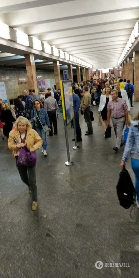 Толпа на станции