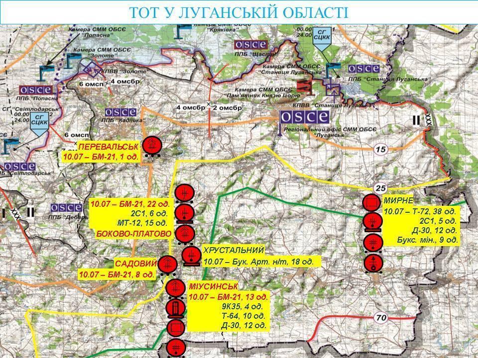 """Террористы стянули сотни """"Градов"""" и гаубиц на Донбассе: карта"""