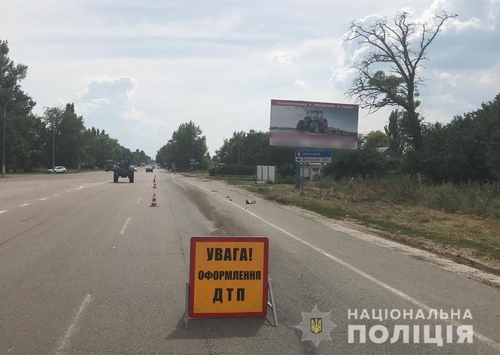 В Херсонской области автобус протаранил грузовик: 7 раненых