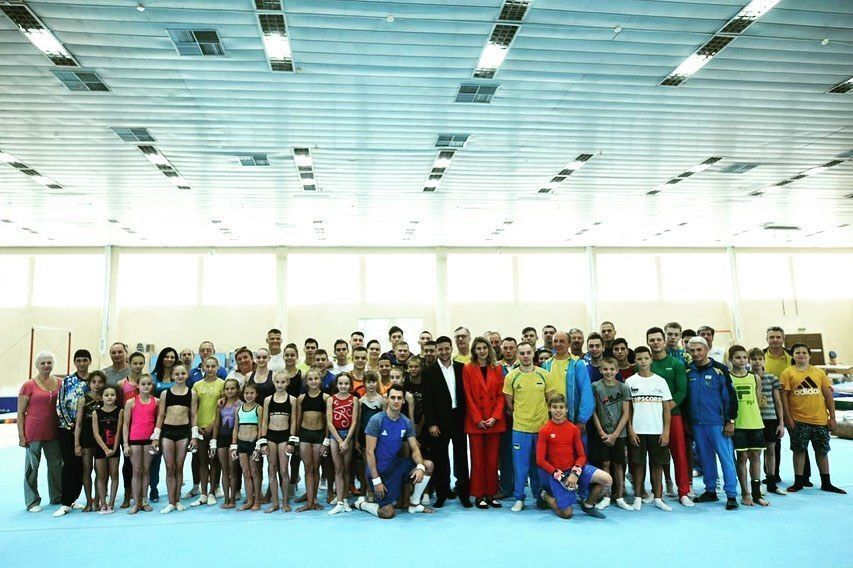 Елена и Владимир Зеленские на Олимпийской базе