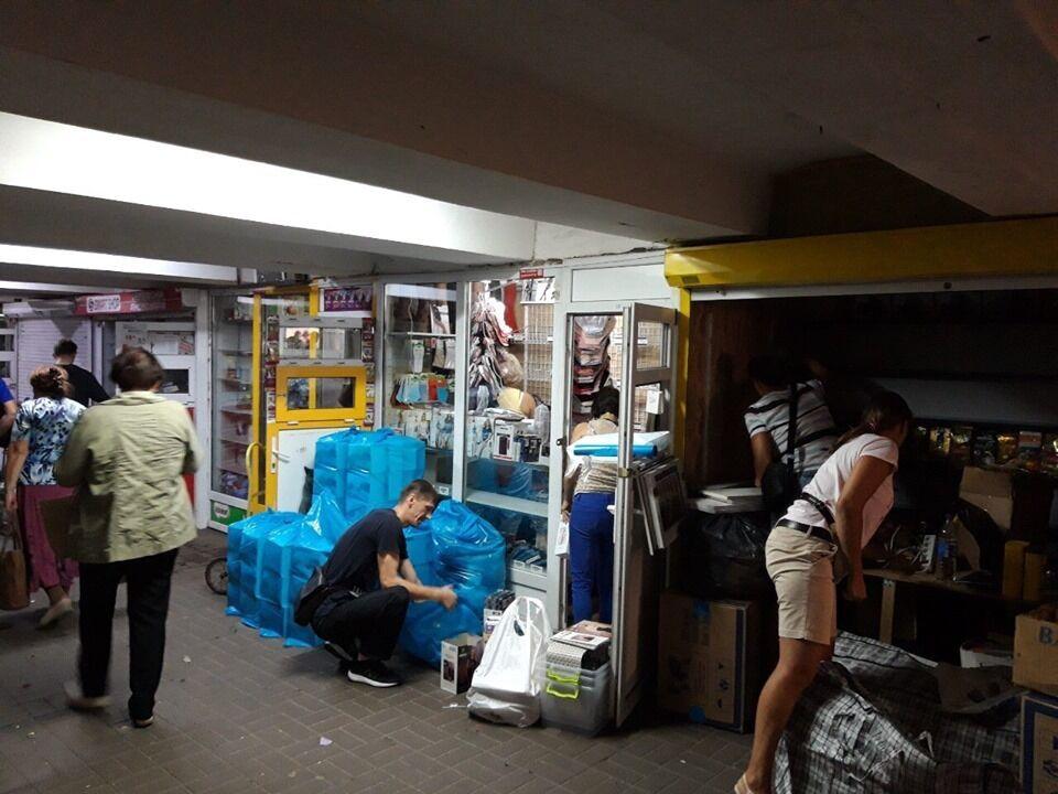 В Киеве в переходе на Позняках убрали МАФы