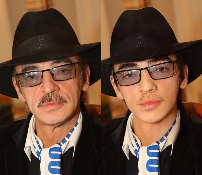 Михаил Боярский - до и после обработки