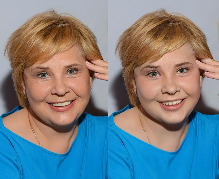 Татьяна Догилева - до и после обработки