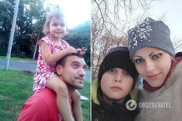 На фото: Віталій Веретельник із донькою Ріаною, сином Інілем і дружиною Вікторією