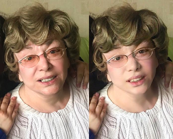 Эдита Пьеха - до и после обработки