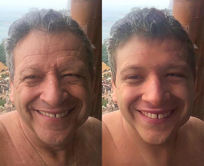 Борис Грачевский - до и после обработки