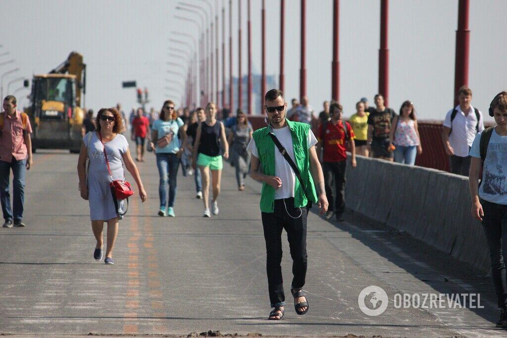 Мэр Днепра Филатов лично приехал на закрытый Новый мост сегодня утром (Фото). Новости Днепра