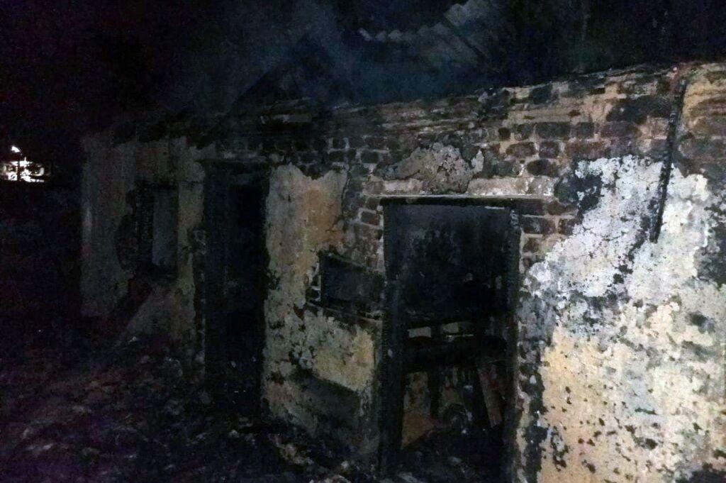 Ликвидация возгорания в Кривом Роге