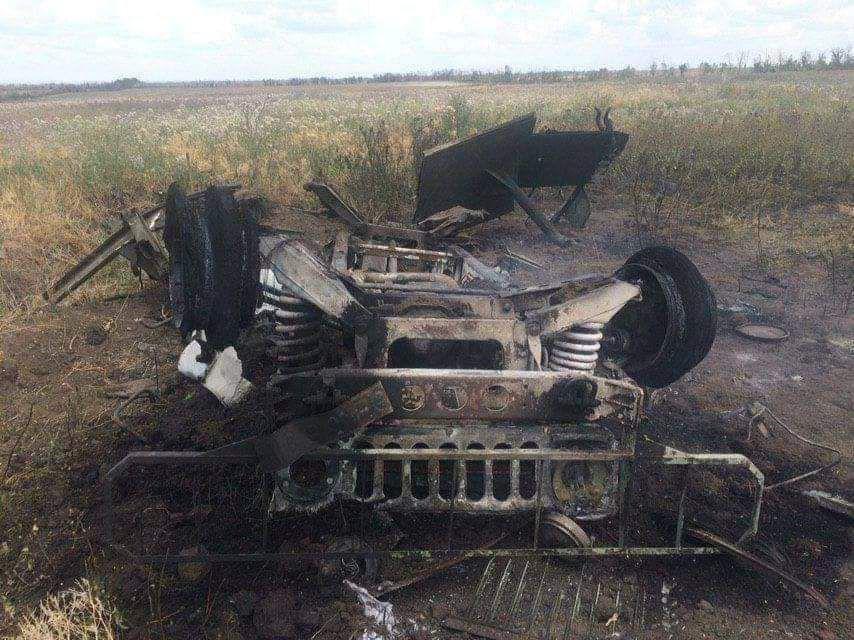 Реальное фото уничтоженного террористами авто медиков
