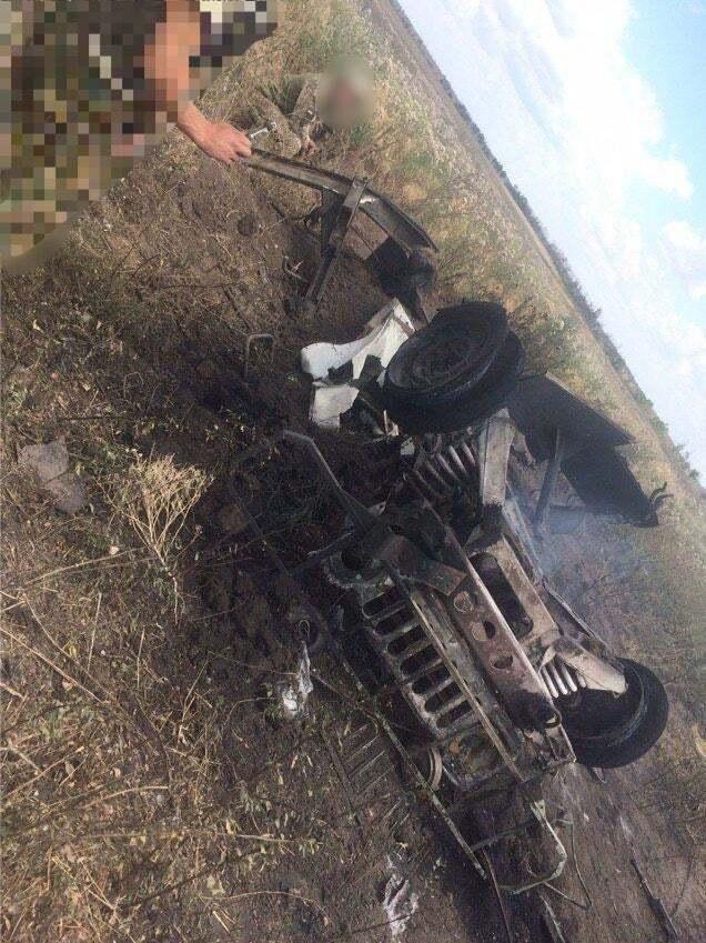 Машина погибших медиков на Донбассе
