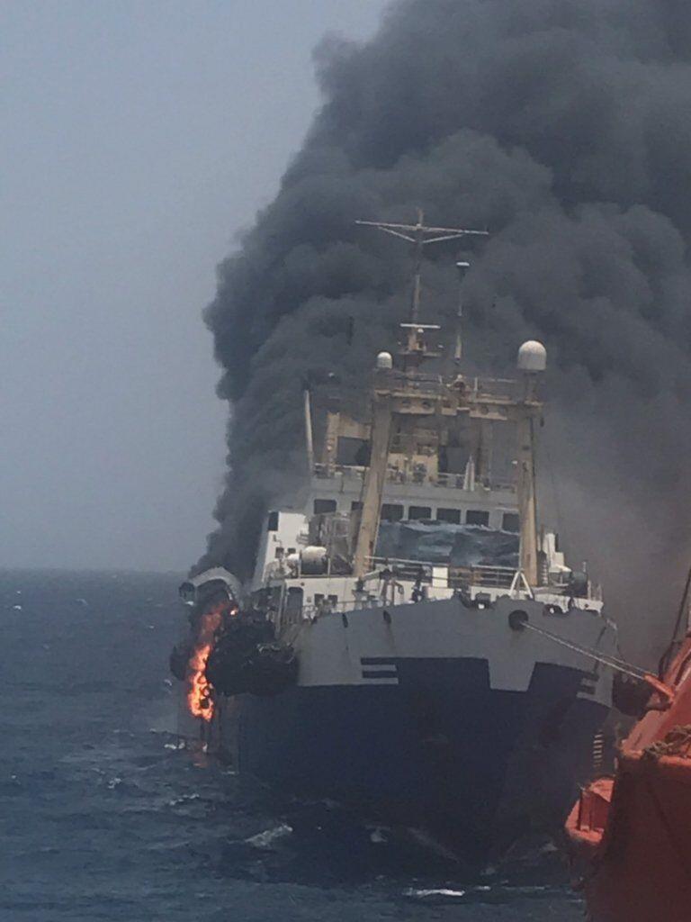 Пожежа на українському кораблі