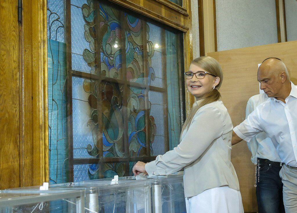 Юлия Тимошенко проголосовала на внеочередных выборах в Верховную Раду