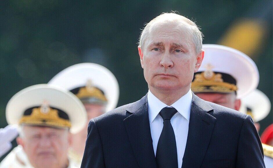 Володимир Путін на параді