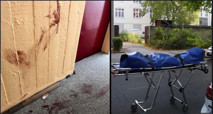 Возле дверей квартиры нашли следы крови