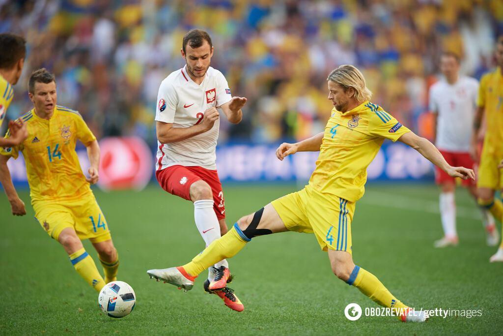 Останній матч Тимощука за збірну України - проти Польщі на Євро-2016