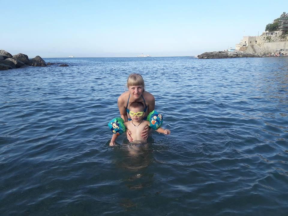 Лидия со старшим сыном