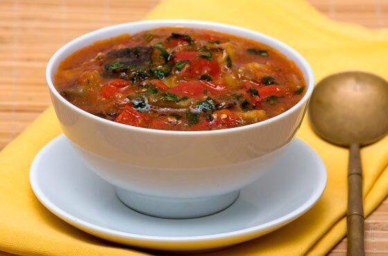 Суп з баклажанами