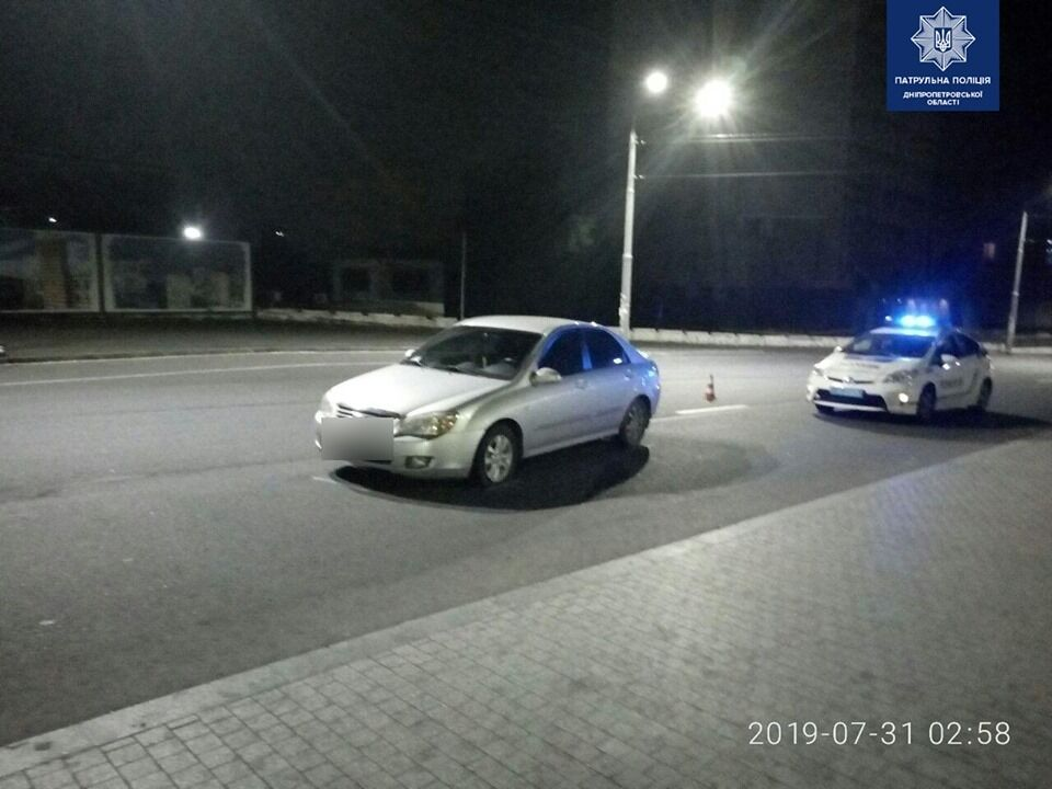 В Днепре задержали нетрезвого 15-летнего водителя