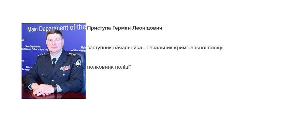 Сайт полиции Киева