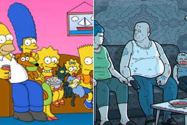 Симпсоны - сравнение