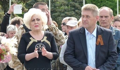 Неля Штепа на митинге ко Дню Победы 9 мая 2014 года