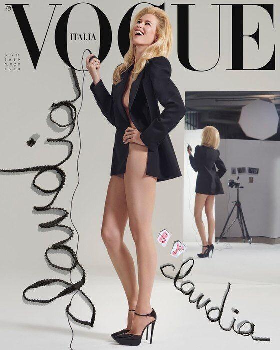 Клаудія Шиффер на обкладинці Vogue