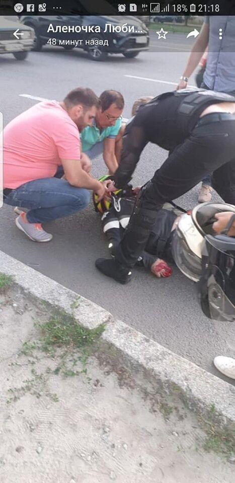 У Дніпрі мотоцикліст потрапив під колеса Audi