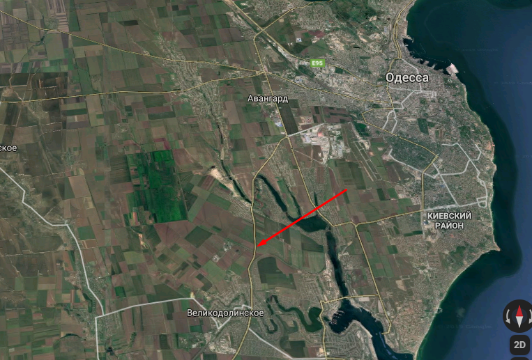 ДТП трапилася біля селища Великодолинське