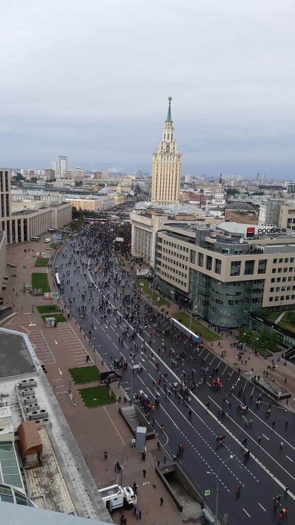 Митинг в Москве закончился