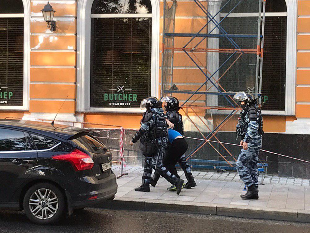 В Москве задержали участников протеста
