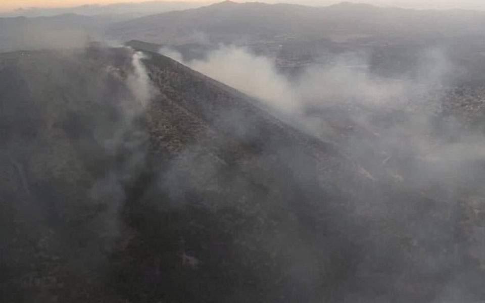 Вогонь було видно навіть зі столиці Греції
