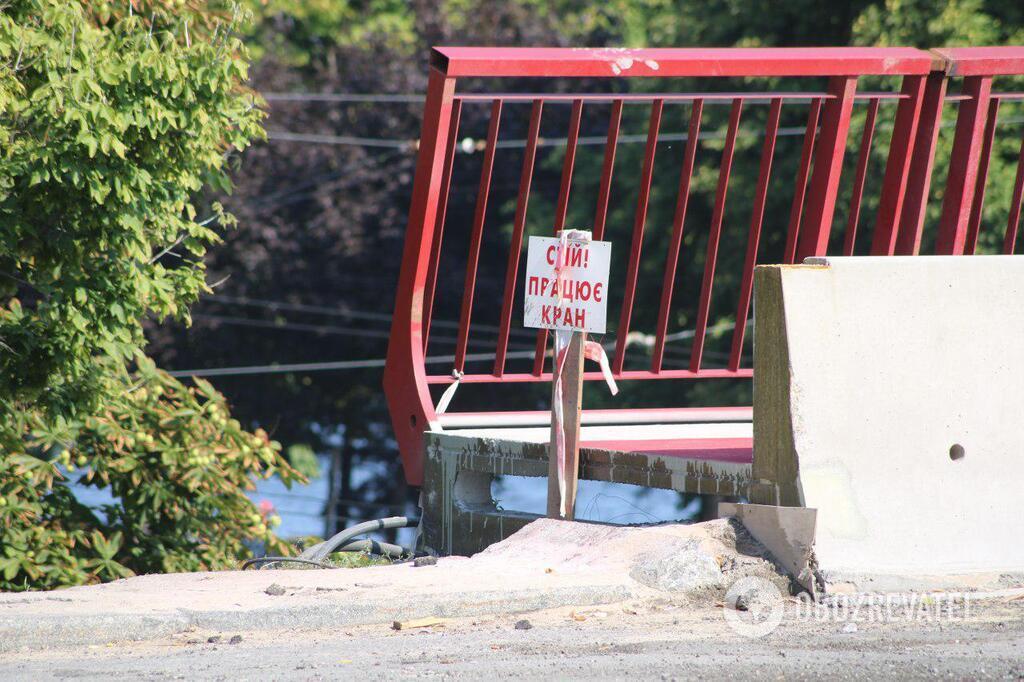 Новый мост в Днепре снова перекрыли