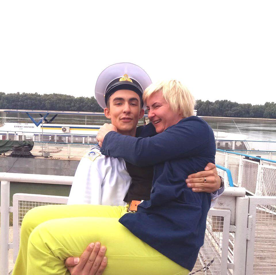 Марк Блізнак із мамою Катериною