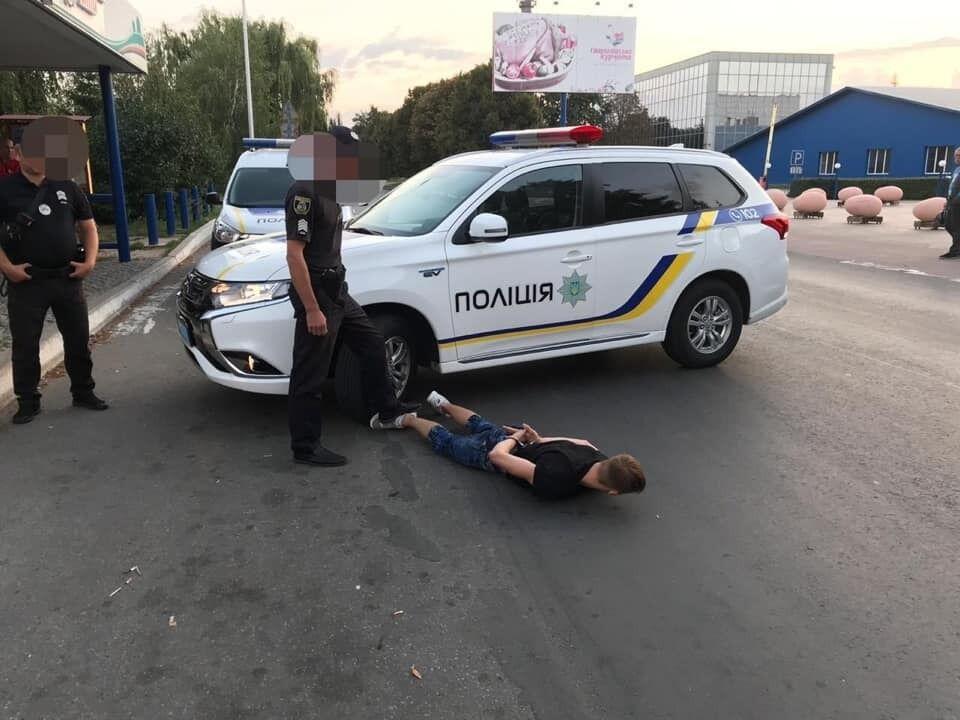 Поліція впіймала зловмисника