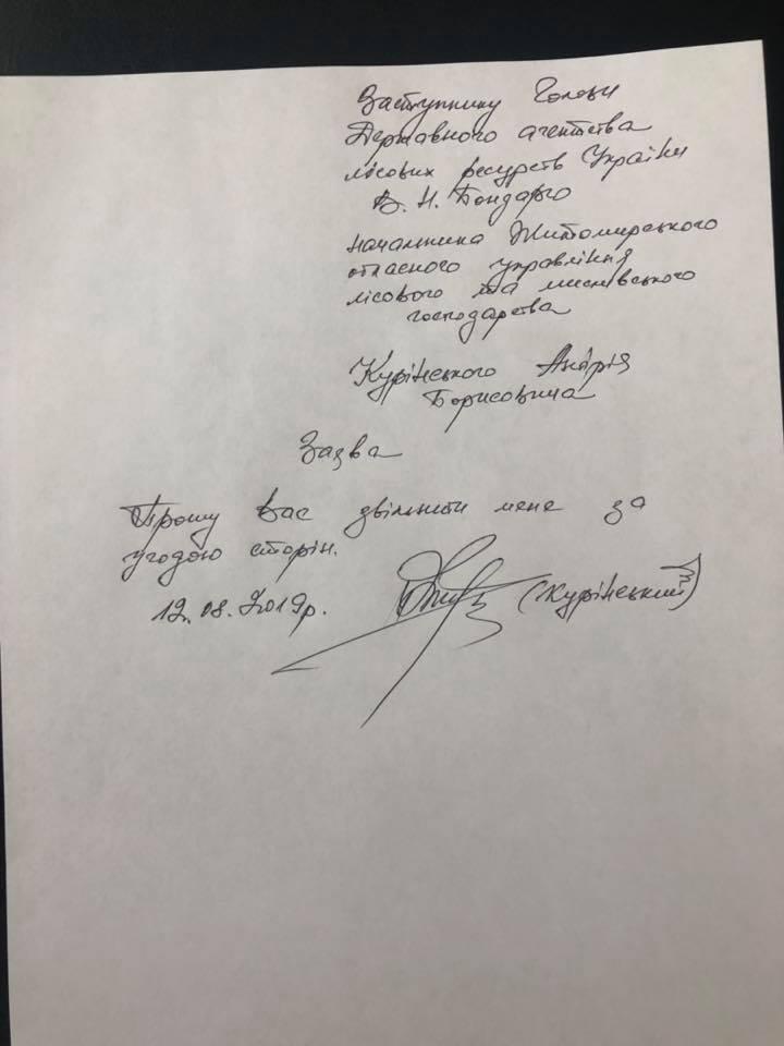 Заявление Куринского