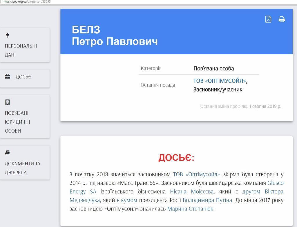 Человек с таким же именем проходит и в украинских реестрах