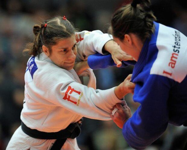 Раша Срака на соревнованиях по дзюдо