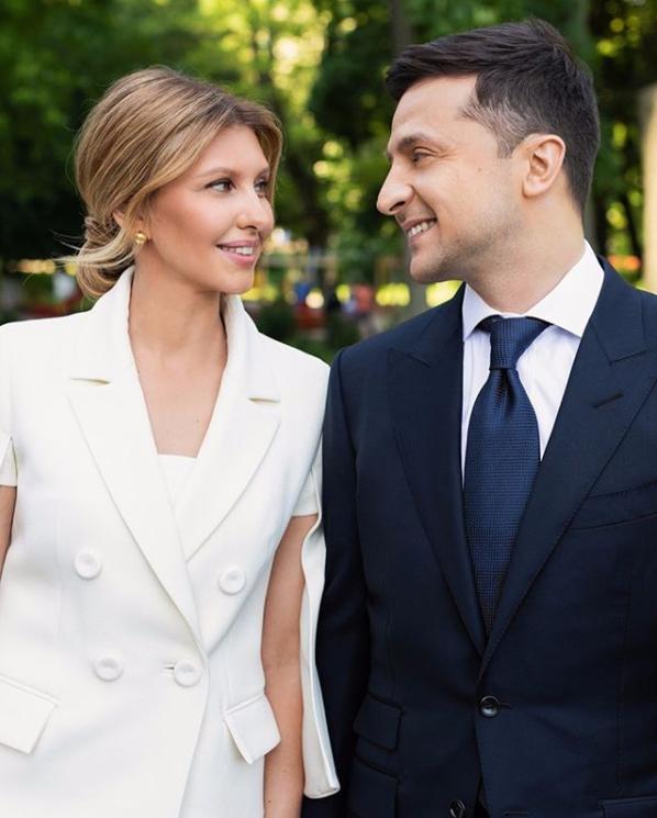 Олена і Володимир Зеленський Фото з Instagram