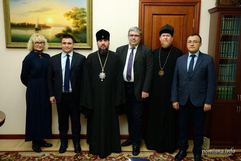 Митрополит Епіфаній, архієпископ Євстратій на зустрічі з міністром закордонних справ Павлом Клімкіним