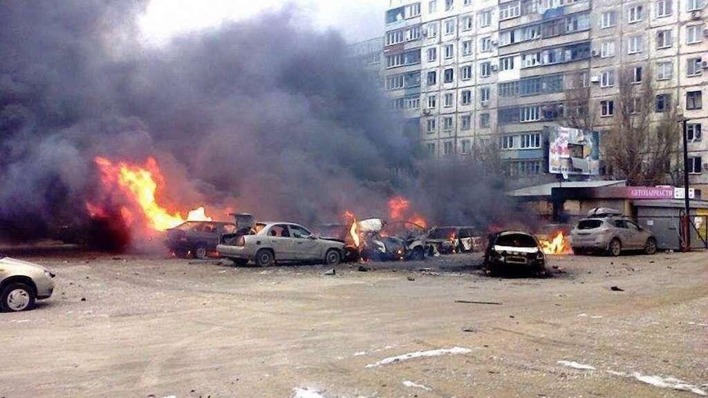 Обстрел Мариуполя. Боевики вели огонь по жилым кварталам