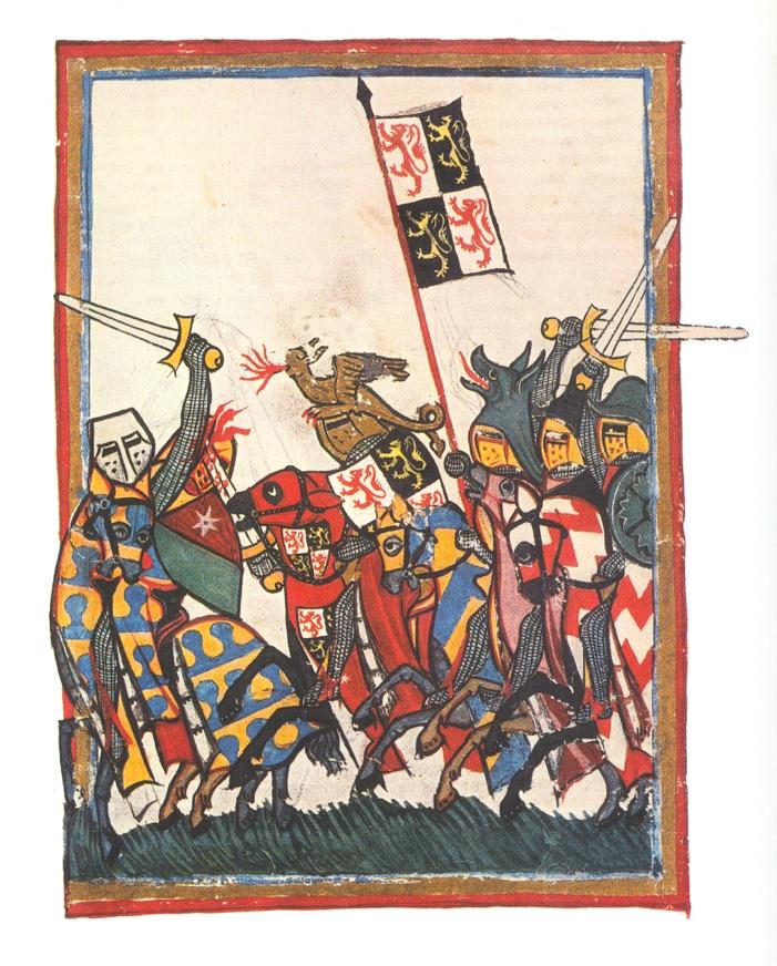 Іоанн Брабантський на чолі війська. Малюнок із середньовічного рукопису