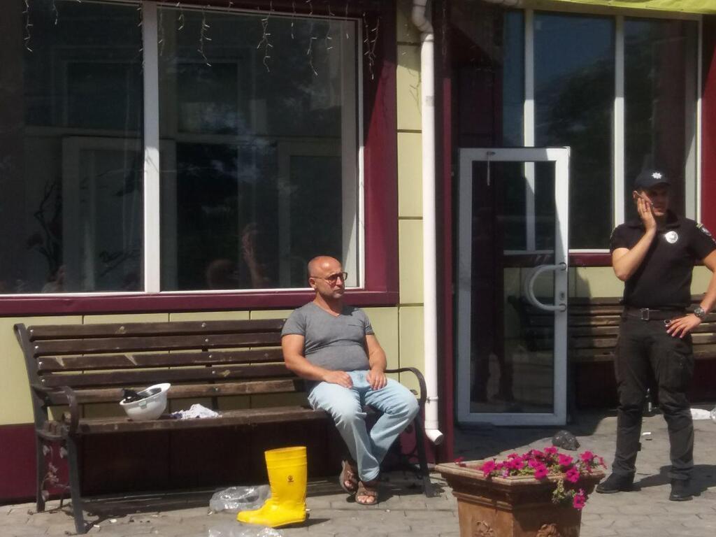 Вадим Чорний на місці трагедії